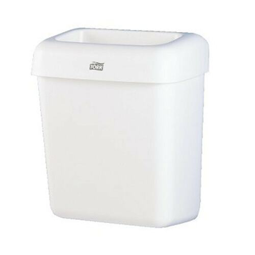 Tork Advanced Mini Bin 20 l, plastic, white product foto Front View L