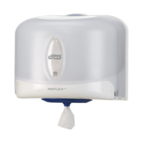 Tork Reflex Centerfeed Dispenser White (M4) - bruikleen product foto Front View L